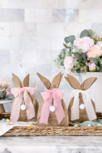 These DIY Easter Bunny Gift Bags are super simple to create and fill with your favorite Easter treats.