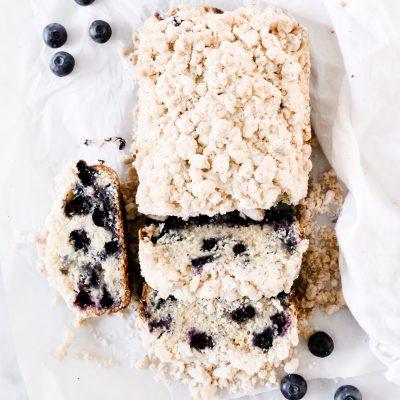 Streusel Blueberry Bread