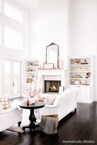 A tour of our Fall Living Room Decor this year with lots of neutrals and muted fall colors.